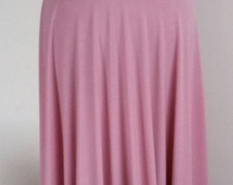 Infinity Multiway Convertible Twist Wrap Dress Bridesmaid Wedding Prom Evening Dusky Pink