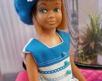 Vintage Style Dress Set for Vintage Skipper Doll, Dress, Beret, Belt 1960's