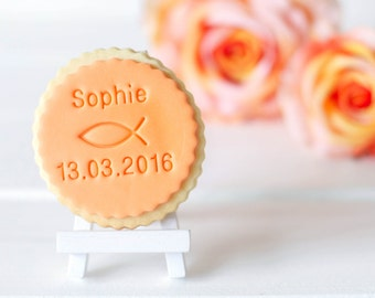 Fish - baptism, communion, confirmation - cookie stamp / fondant stamps