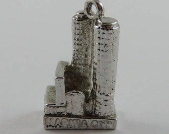 Marina City Chicago Sterling Silver Vintage Charm For Bracelet