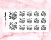 A908 | Sleeping stickers, Keemoji resting stickers, tired stickers, relax stickers, emotion stickers, emoji stickers, planner stickers