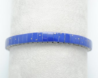 Lapis Lazuli bracelet - extensible bracelet - blue bracelet - vintage bracelet - Lapis bracelet