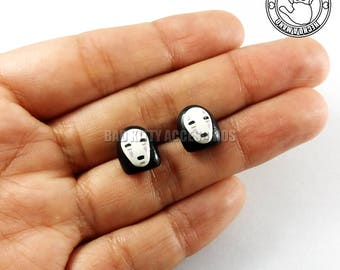 No Face Inspired Stud Earrings, Surgical Steel Posts