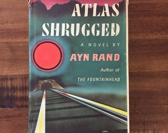 1st Edition Atlas Shrugged by Ayn Rand Hardcover Book with Dust Jacket/ 15th Printing/ 1957 Random House