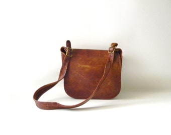 Vintage Distressed COACH Brown Leather Purse