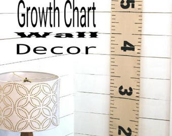 Growth Chart---Ruler---Handmade---Wall Hanging---Canvas
