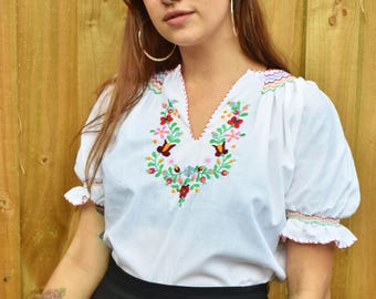 Vintage seventies embroidered blouse