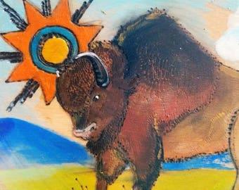 Ute Bison - by Yarrish Arts