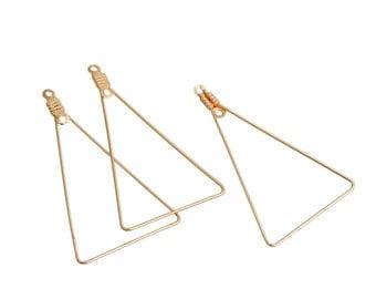 Triangle Earring Components, Geometric Earring Findings, 3332, 906a