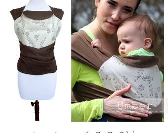 Linen Mei Tai, Baby Carrier, GuGaSling Umber, Woven Baby wrap, Adjustable carrier, Hand made Baby Sling, Gift bag, Baby Shower Gift