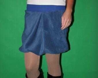 blue balloon skirt fleece skirt size S