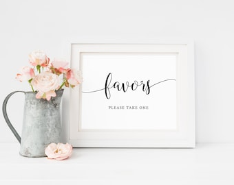 Wedding Favor Sign, Favors Table Sign, Wedding Favor Printable, Please Take One Favors Sign, Shower Favors Sign