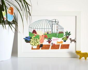 A4 poster - Garden house