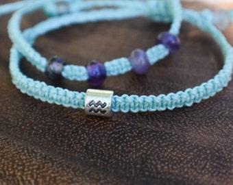 Aquarius Zodiac Bracelet Set