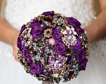 Wedding flower bouquet, Wedding decorations, Bridal bouquet, Brooch bouquet, Purple wedding, Purple bouquet, Bridesmaids bouquet, Wedding