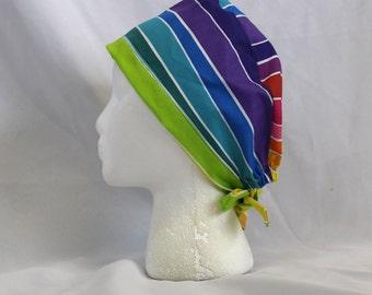 Rainbow Pride Surgical Scrub Cap Chemo Hat