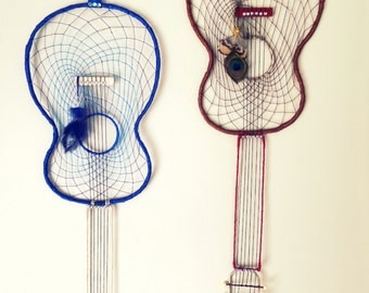 Large Acoustic Guitar Dream Catcher [Last 1! - BLUE]