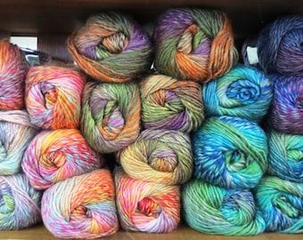 Yarn wool acrylic Nako ARTIST, gradient yarn, palette yarn, sectional yarn