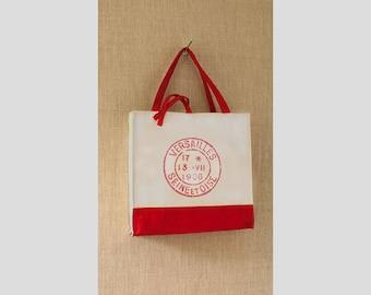 Canvas Tote Bag, French Postmark, Shopping Bag, Eco Friendly Bag, Book Bag