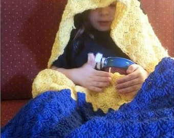 Crochet Hooded Character/Animal Blanket