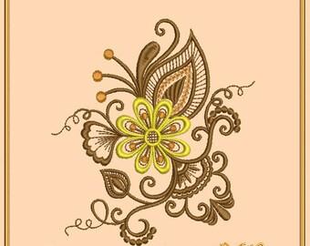 "Machine embroidery design ""Floral Sonata_99"" of series ""Floral Sonata"" - flower embroidery"