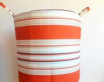 XXL Laundry Hamper/Storage Basket/ Laundry Bag/Storage/ Basket/ Storage Bin/ Fabric Basket/ Cotton basket/ Fabric Storage/ Handmade Hamper
