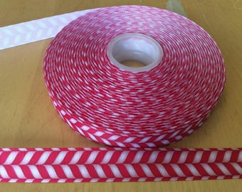 Candy cane ribbons, Christmas ribbons,winter ribbons, 7/8 inch Grosgrain ribbons, perfect for hairbows, scrapbooking and more