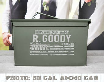 Personalized Groomsman Gift, Laser Engraved Weather Proof Ammo Can