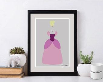 Disney's Anastasia Poster/Print - minimalist cinderella anastasia ugly stepsister drizella mean evil sister dress poster art decor