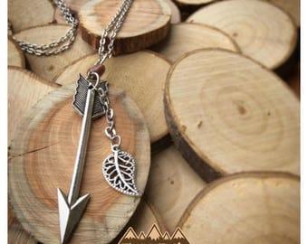 Silver Spear/Arrow Necklace