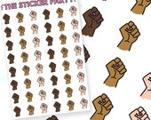 Demonstration/March/Rally/Protest Planner Stickers