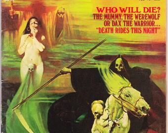 EERIE 52, The Mummy, Werewolf, Horror Magazine, Grim Reaper, Demon, Monster Comics, Scary art, Goth, Halloween. 1973 Warren in FVF (7.0)
