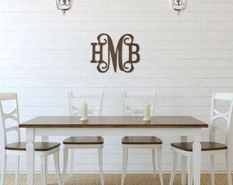 SALE! Classic Vine Wooden Monogram - Wooden Door Hanger - Wooden Wall Art - Wooden Initial Door Hanger - Monogram Door Hanger