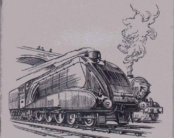 Complete Album of 50x Original Cigarette Tobacco Cards - 'RAILWAY ENGINES' - by W.D.& H.O. WILLS c1924