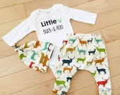 Little Buck a Roo Set / Deer / Woodland  / Organic Cotton