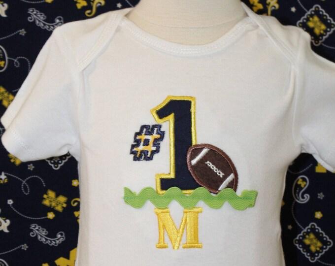 Michigan, University of Michigan,Michigan Wolverines,Maize and Blue,Baby Wolverine bodysuit,Football shirt,Baby shower gift, New baby gift