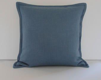 "Designer Pillow -  Accent Pillow - Decorative Pillow Cover - Blue Basketweave Throw Pillow  20"" x 20"""