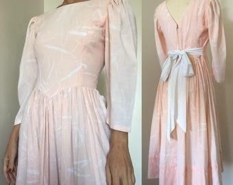 Soft Pink Linen Dress