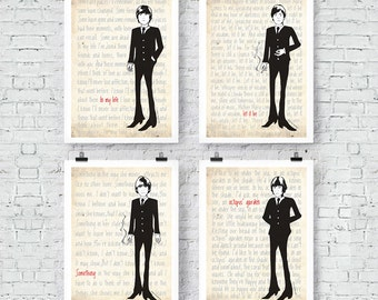 "The Beatles: ""The Fab Four"" Prints Wall Art"
