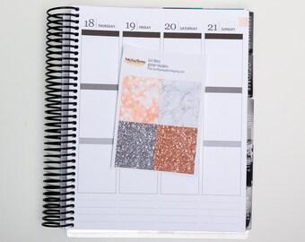 Girl Boss Glitter headers / Erin Condren vertical /  glitter strips / glitter stickers / planner stickers / kit add-on