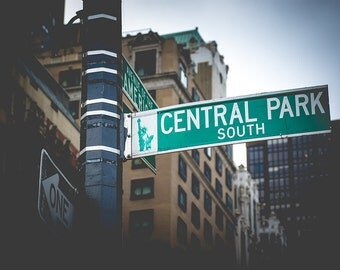 Central Park Print - Central Park Street Sign, New York Print, New York Wall Art - New York Photography Print