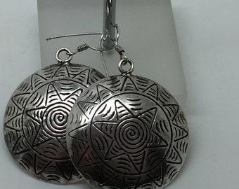 silver dangle earrings,silver drop earrings,silver jewelry,ball ethnic earrings,gypsy earrings,drop earrings,tribal earrings,boho earrings