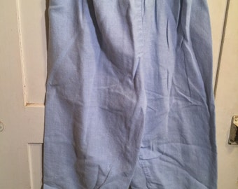 18 month, Vintage Classic Baby Clothes, Blue and White Micro checked Pants