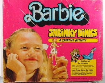 Vintage Barbie Doll Shrinky Dinks Toy NRFB 1979 By Colorforms