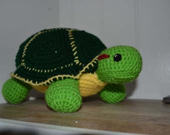 Amigurumi Turtle, Amigurumi, Turtle, Stuffed Turtle, Crocheted Turtle, Handmade Turtle, Toy Turtle, Stuffed Animal, Crocheted Stuffed Animal