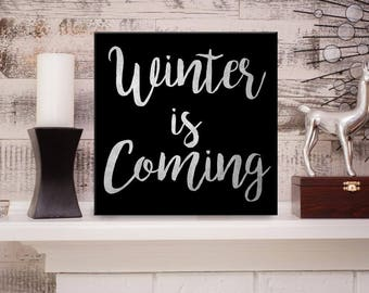 Winter is Coming canvas Art