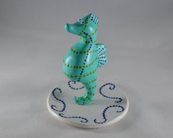 Seahorse ring holder