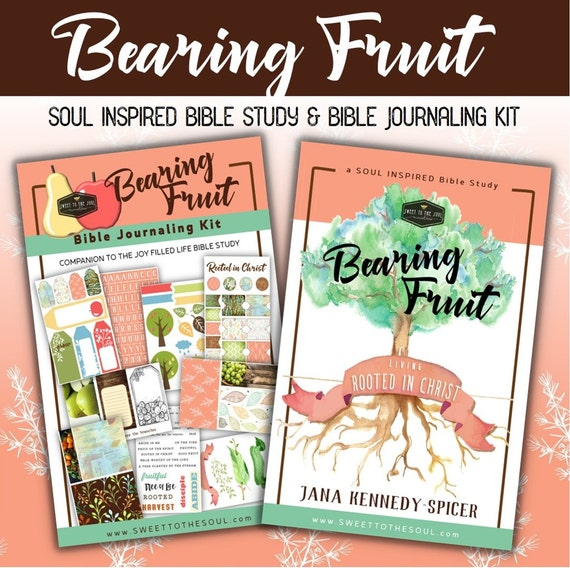 "Soul Inspired - ""Bearing Fruit"" Bible Study + Journaling - 100+ piece KIT  - MARCH"