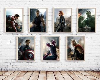 Avengers Film Poster Art Captain America Hulk Thor Iron Man Movie Poster