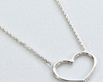 Wire Heart, Adjustable Necklace